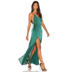 Capsules by REVOLVE plunging Maxi Dress in green